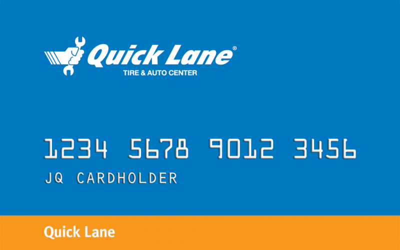 Quick Lane Credit Card Offer